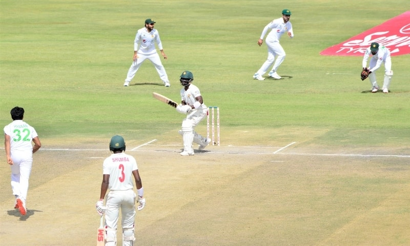 The match was played at the Harare Sports Club. — Photo courtesy PCB Twitter