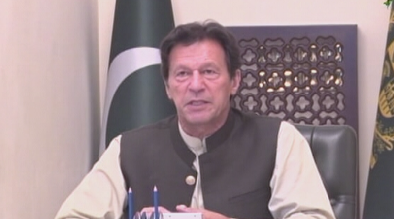 Prime Minister Imran Khan speaks to Pakistani ambassadors posted in world capitals on Wednesday.